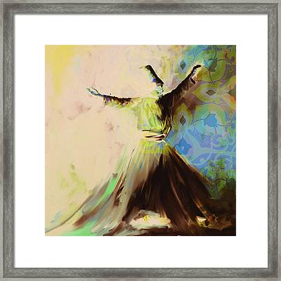 Painting 716 6 Sufi Whirl II Framed Print