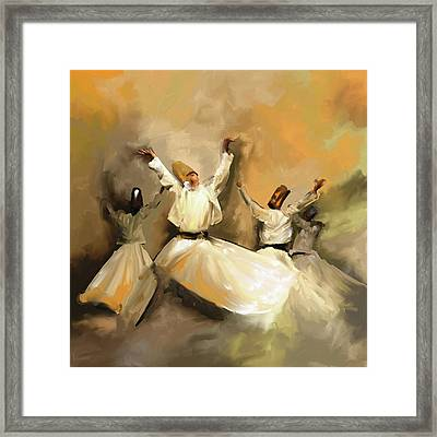 Painting 717 1 Sufi Whirl 3 Framed Print