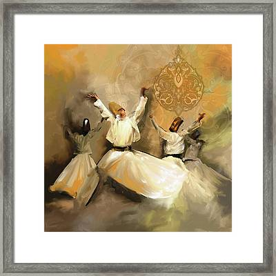 Painting 717 2 Sufi Whirl 3 Framed Print