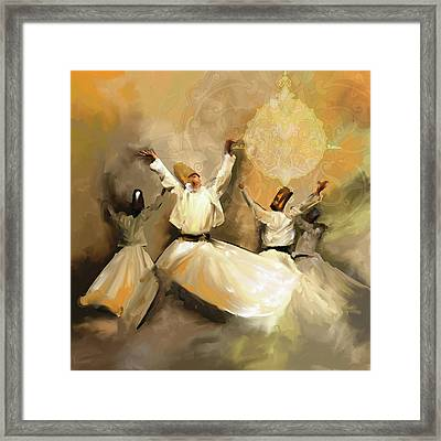 Painting 717 3 Sufi Whirl 3 Framed Print