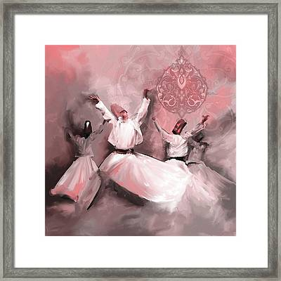 Painting 717 4 Sufi Whirl 3 Framed Print