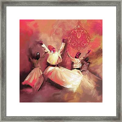 Painting 717 5 Sufi Whirl IIi Framed Print