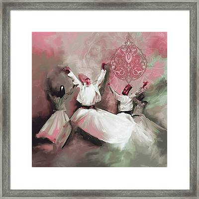 Painting 717 6 Sufi Whirl IIi Framed Print