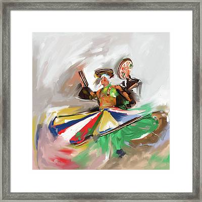 Painting 718 1 Sufi Whirl Iv Framed Print