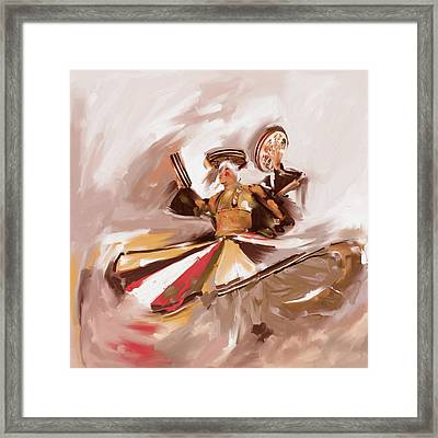 Painting 718 3 Sufi Whirl Iv Framed Print
