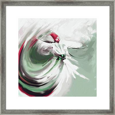 Painting 719 4 Sufi Whirl 5  Framed Print