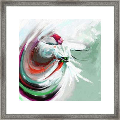 Painting 719 5 Sufi Whirl 5 Framed Print