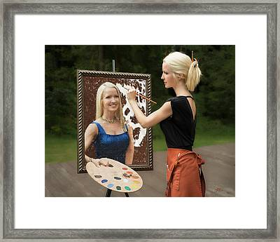 Painting A Self Portrait Framed Print