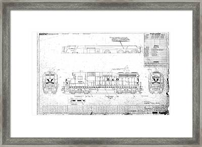 Painting And Lettering Diagramgp30 Framed Print