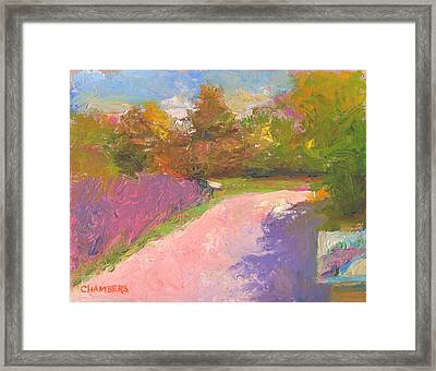 Painting By Her Framed Print