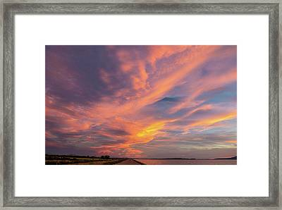 Painting By Sun Framed Print