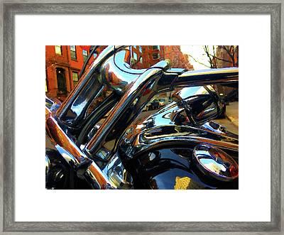 Painting Cold Chrome New York Framed Print by Tony Rubino
