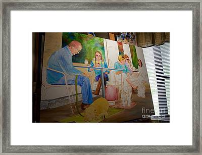 Painting Dogs On Park Avenue Framed Print
