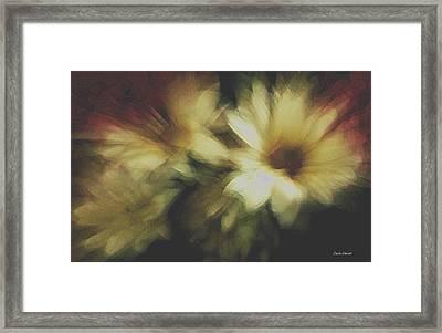 Painting Flowers Framed Print by Linda Sannuti