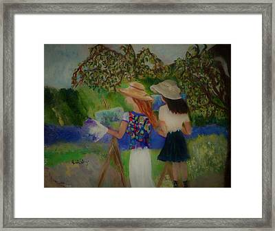 Painting In France Framed Print by Aleezah Selinger