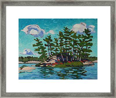 Painting Island Framed Print