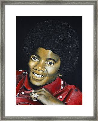 Painting Michael Jackson Framed Print by Jordi Hainje