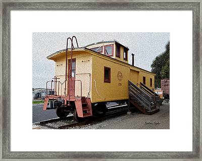 Painting Oceano Depot Museum Caboose  Framed Print
