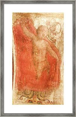 Painting Of A Cherub Framed Print by Vladi Alon