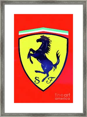 Painting Of Ferrari Badge Framed Print