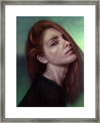 Painting Of A Woman I Will Never Know Framed Print by James W Johnson