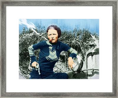 Painting Of Bonnie Parker Of Bonnie And Clyde 2 Framed Print