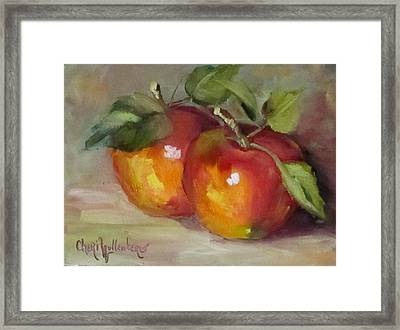 Painting Of Delicious Apples Framed Print