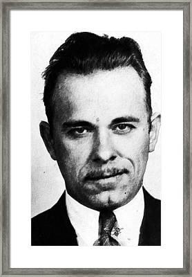 Painting Of John Dillinger Mug Shot Framed Print