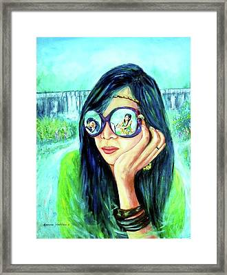 Painting Of Love Framed Print