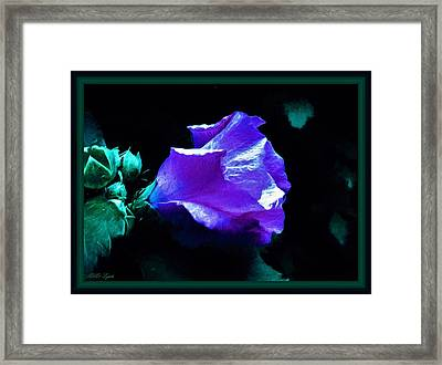 Painting Of The Hibiscus Framed Print by Debra Lynch