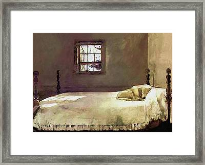 Painting Of The Print, Master Bedroom Framed Print