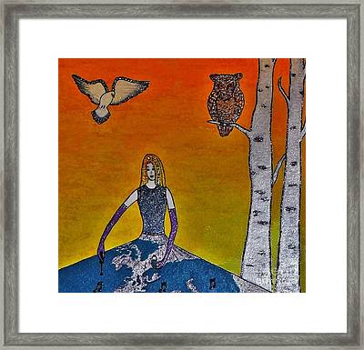 Painting On A Sunny Day Framed Print