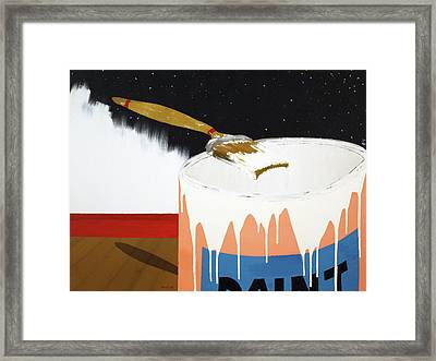 Painting Out The Sky Framed Print