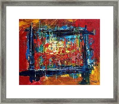Painting Outside Of The Lines Framed Print
