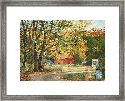 Painting The Fall Colors Framed Print