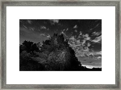 Painting The Night 3 - Bw Framed Print