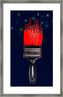 Painting The Town Red Framed Print by Jane Schnetlage