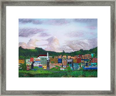 Painting The Town Framed Print by Tony Rodriguez
