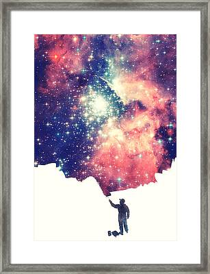 Painting The Universe Awsome Space Art Design Framed Print