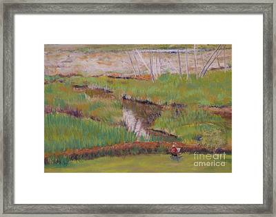 Framed Print featuring the painting Painting The Wetlands by Terri Thompson