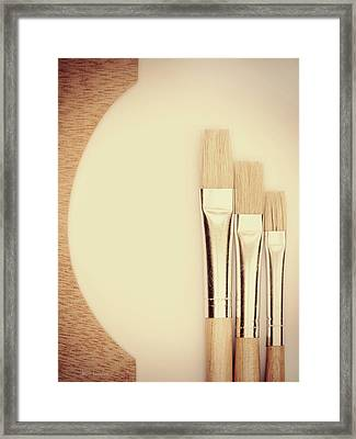 Painting Tools Framed Print by Wim Lanclus