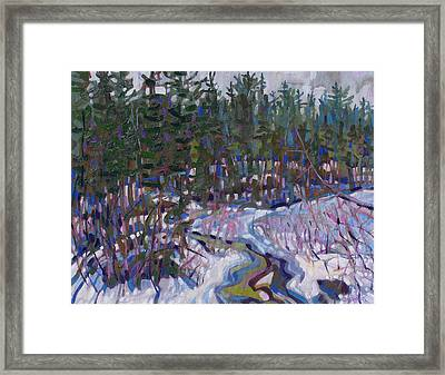 Painting Up A Storm Framed Print