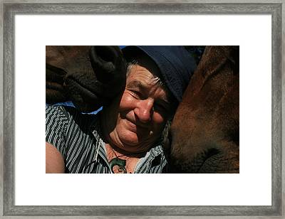Painting With Horses Framed Print