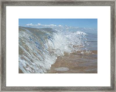 Painting With Waves Framed Print