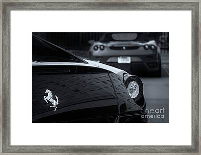 Framed Print featuring the photograph Pair Of Ferraris 2 by Dennis Hedberg