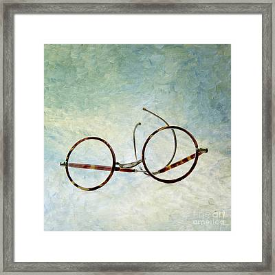 Pair Of Glasses Framed Print by Bernard Jaubert