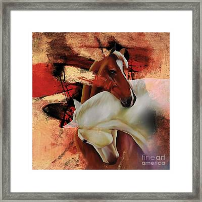 Pair Of Horse 04 Framed Print by Gull G