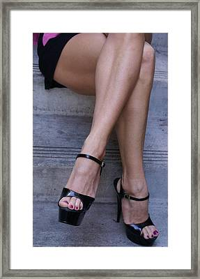 Pair Of Legs Framed Print by Sonja Anderson