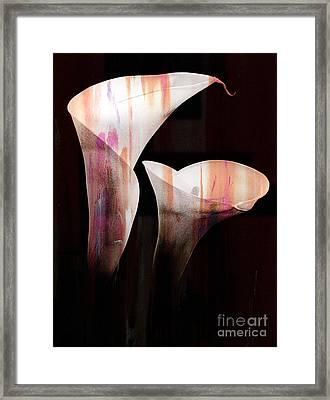 Pair Of Lillies Framed Print