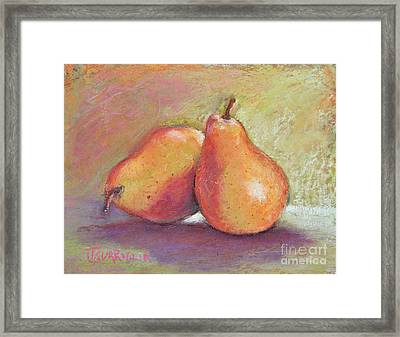 Pair Of Pears Framed Print by Joyce A Guariglia